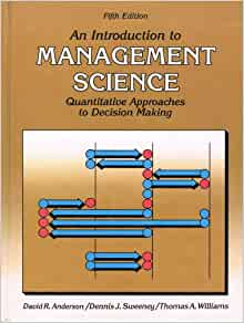 introduction to management science 5th edition pdf