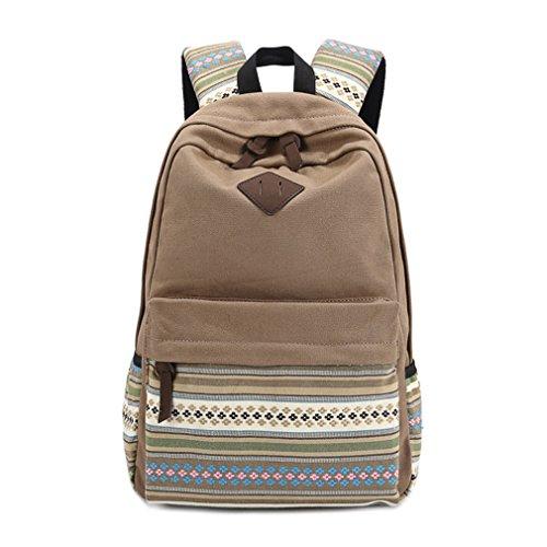 kaoling Mochilas para mochilas escolares para niña Mochilas escolares Mochila escolar para hombre Khaki
