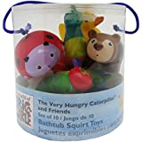 The World of Eric Carle, The Very Hungry Caterpillar 10 Piece Bathtub Squirty Toys Set, 5.5""
