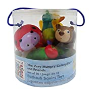 The World of Eric Carle, The Very Hungry Caterpillar 10 Piece Bathtub Squirty Toys Set, 5.5