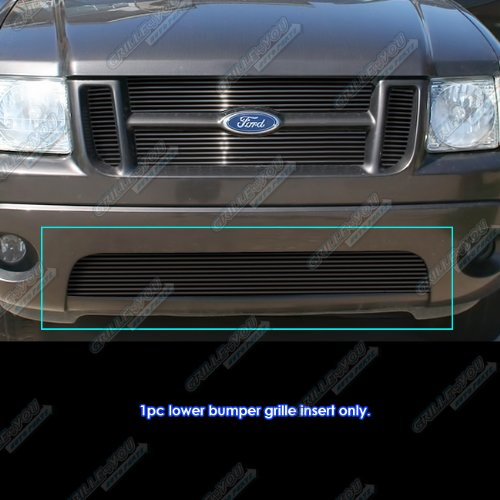 (APS Compatible with 2001-2005 Ford Explorer Sport Trac Bumper Billet Grille S18-H22358F)