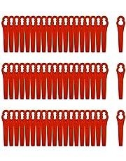 Grastrimmer, 100 stuks, reservemesjes, kunststof reservemessen, grastrimmer-accessoires, kunststof messen voor tuin, voor accu-grastrimmer, kunststof messen