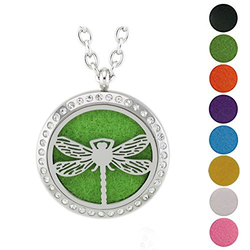 Mother Nature Costumes Homemade (Jenia Essential Oil Diffuser Necklace Stainless Steel Aromatherapy Locket Pendant Free Chains and Pads)