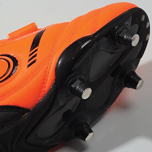 Optimum Tribal Velcro 6 Stud, Botas de Fútbol Para Niños Naranja (Fluro Orange/Black)