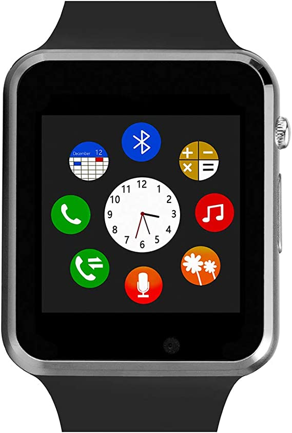 Smart Watch For Android Phones,Touch Screen Bluetooth Smart Watch with Phone Call Text ,Compatible Android iPhone Samsung LG ,Camera Music with TF/SIM ...