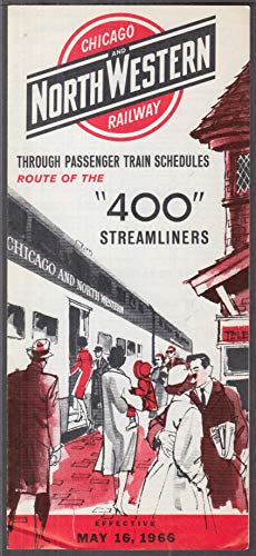 Chicago & North Western Railway RR Timetable 5/16 1966