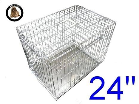 Ellie-Bo perro perrito de la jaula plegable 2 puerta con orificio non-chew