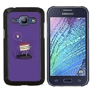 Eason Shop / Premium SLIM PC / Aliminium Casa Carcasa Funda Case Bandera Cover - Cartel de motivación divertido - For Samsung Galaxy J1 J100