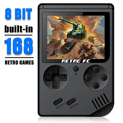 Hangyuan Retro Handheld Classic Game Console FC System Plus Extra Joystick Video Game Consoles Built-in 168 Classic Games