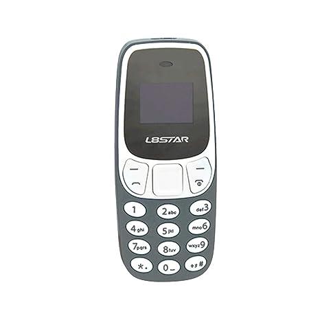 Nosii Práctico Mini BM10 Pequeño gsm Teléfono móvil Bluetooth Marcador Tarjeta Dual MP3 Bluetooth Teléfono móvil (Color : Grey)
