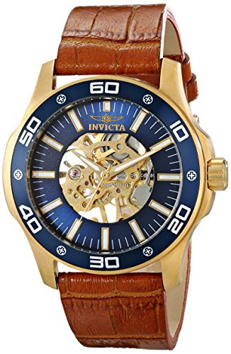 Mens Specialty Brown Dial - Invicta Men's 17260SYB Specialty Analog Display Mechanical Hand Wind Brown Watch