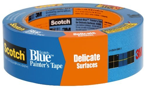 3M Scotch 2080 Safe-Release Painters Masking Tape, 60 yds Length x 3/4' Width, Blue