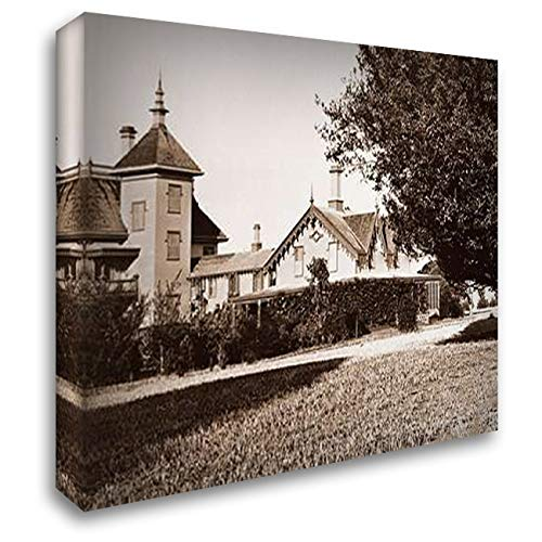 Residence of Mr. Howard, San Mateo, California, with Olive Tree, 1863-1880 36x28 Gallery Wrapped Stretched Canvas Art by Watkins, Carleton