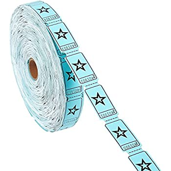 Amazon.Com : Blue Single Roll Raffle Tickets W/Star, 2000 Tickets
