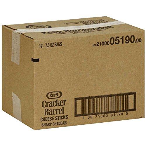 Cracker Barrel Sharp Cheddar Cheese Sticks, 7.5 Ounce -- 12 per case.