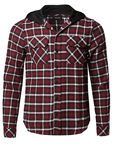 Youstar Flannel Sleeves Closure Detachable