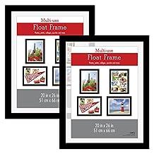 MCS Float Poster Frame (2 Pack), 20 X 26-Inch, Black
