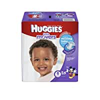 HUGGIES Little Movers Diapers, Size 6, 54 Count (Packaging May Vary)