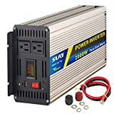 Sug 2000W (Peak 4000W) Power Inverter Pure Sine Wave DC 12V to AC