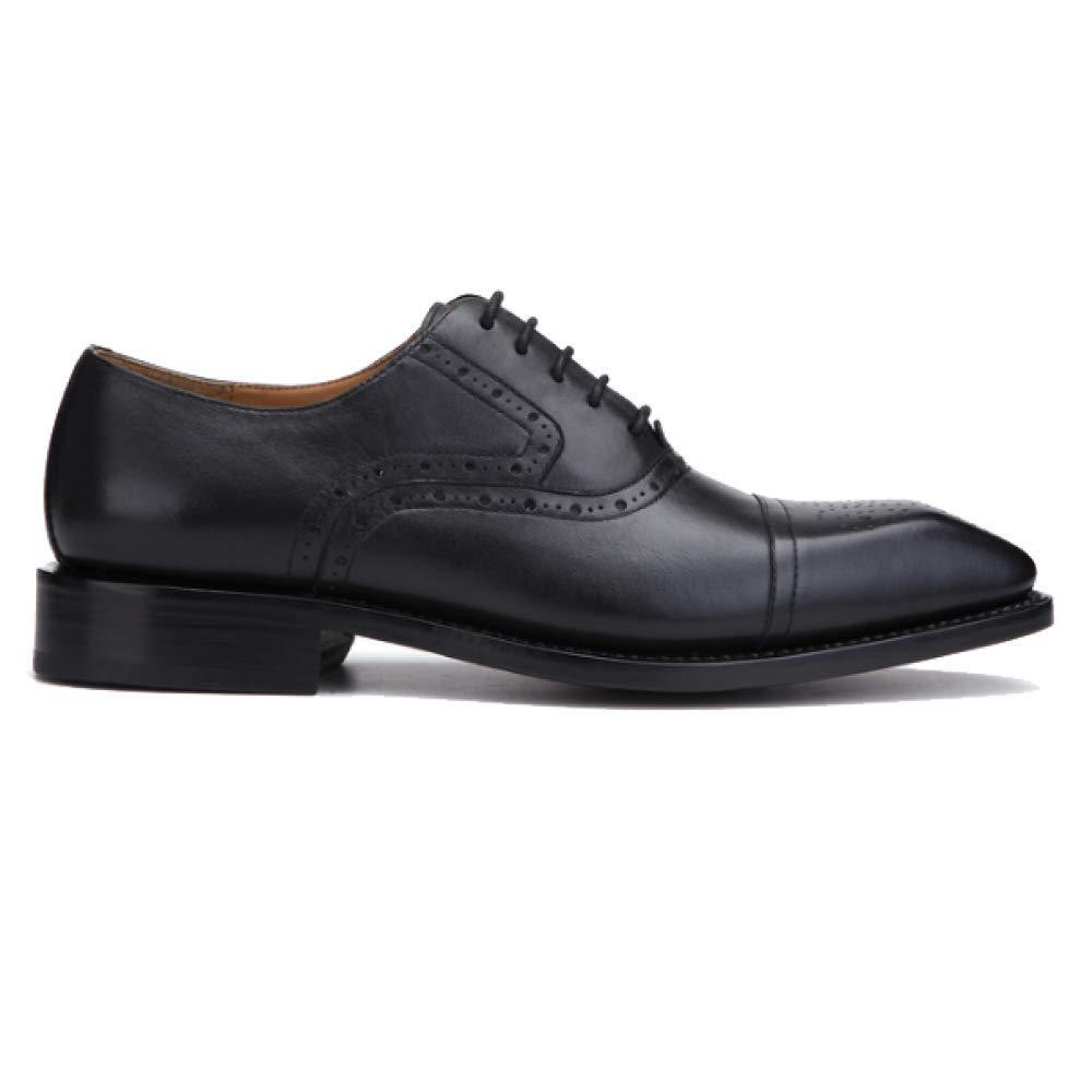 Handgemachte Goodyear Männer Lederne Schuhe Geschäfts Oxford Schuhe schwarz Spitzte Das Stoßdämpfende Breathable schwarz Schuhe 706f48