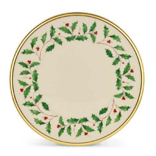 Christmas Holly Salad Plates
