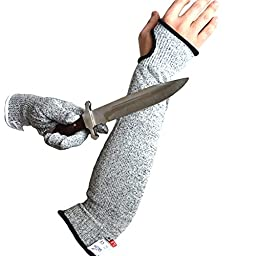CHYDA Cut Resistant Gloves High Performance Level 5 Protection Food Grade Certified Kitchen and Work Safety Lightweight Breathable with Single Barcer Size XLarge