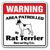 RAT TERRIER Novelty Sign | Indoor/Outdoor | Funny Home Décor for Garages, Living Rooms, Bedroom, Offices | SignMission RAT TERRIER owner, funny sign, dogs Wall Plaque Decoration