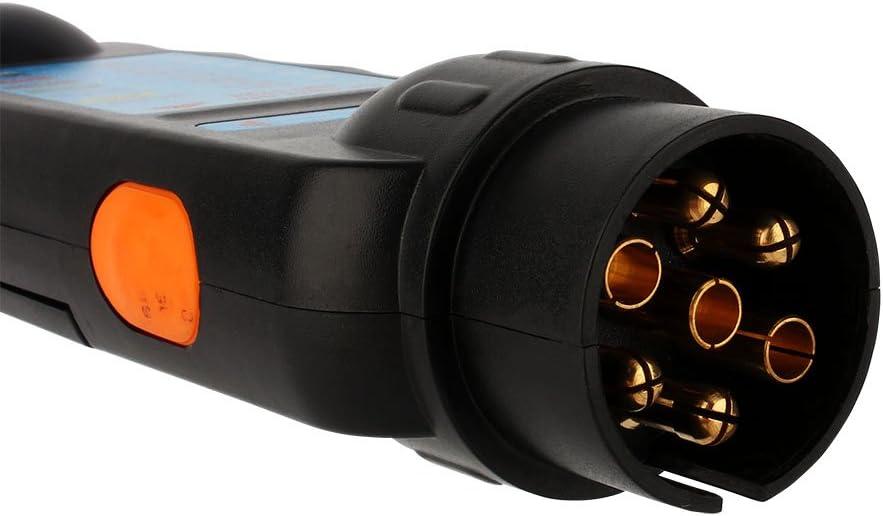 Trailer Plug Tester mit 7 Klingen LKW Wohnmobil 12V 7-Pin Trailer Light Wire Circuit Tester f/ür Wohnmobilanh/änger