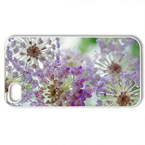 Lace flowers - Case Cover for iPhone 4 and 4s (Flowers Series, Watercolor style, White)