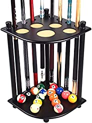 TORPSPORTS Pool Cue Rack -Floor Stand Holds 8 Pool Billiard Stick Freestanding Billiard Cue Racks