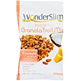 WonderSlim High Protein Granola Trail Mix, Pineapple Coconut - 1.5 oz (10 bags)