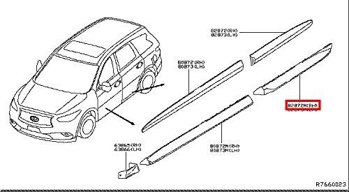 Infiniti Genuine Body Side Moulding Rear Door Right Moulding 82876-3JA0A QX60/JX QX60 HYBRID