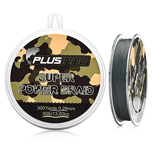PLUSINNO Fishing Line-Stronger Smoother Braided Fishing Line Multifilament Line Wire for Angler