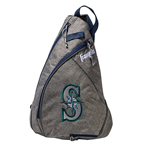 Franklin Sports Seattle Mariners Slingback Baseball Crossbody Bag - Shoulder Bag w/Embroidered Logos - MLB Official Licensed Product ()