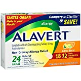 Alavert 24-Hour Non-Drowsy Allergy Relief (18-Count Citrus Burst Flavor Orally Disintegrating Tablets, Pack of 2)