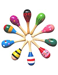 New Wooden Maraca Wood Rattles Egg Shaker Kids Musical Party Favor Kid Baby Shaker Sand Hammer Toy BOBEBE Online Baby Store From New York to Miami and Los Angeles