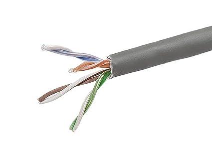 Monoprice 1000FT 24AWG Cat5e 350MHz UTP Solid, Plenum (CMP), Bulk Ethernet Bare