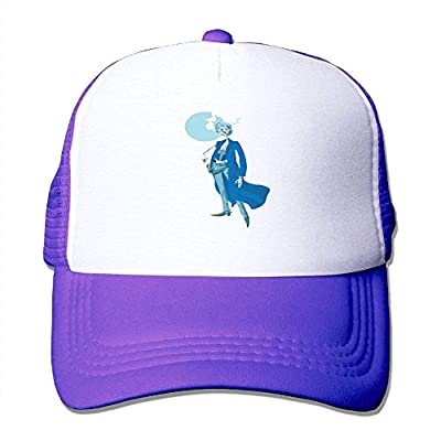 Skull Man Adjustable Snapback Baseball Cap Custom Mesh Trucker Hat by cxms