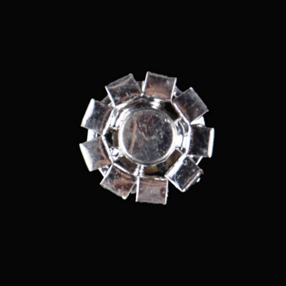 SUPVOX 24pcs bottoni fiore strass bottoni in cristallo decorativi bottoni in lega di diamanti per cucito fai da te abbigliamento 15mm argento