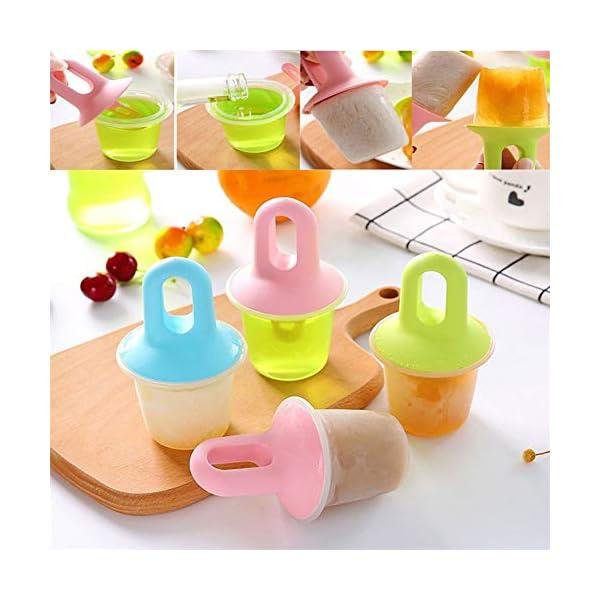 Stampi Ice Lolly Stampi per ghiacciolo e Gelato Commestibile Freddo Regalo impilabile per pappe per congelatore Pink 6 spesavip