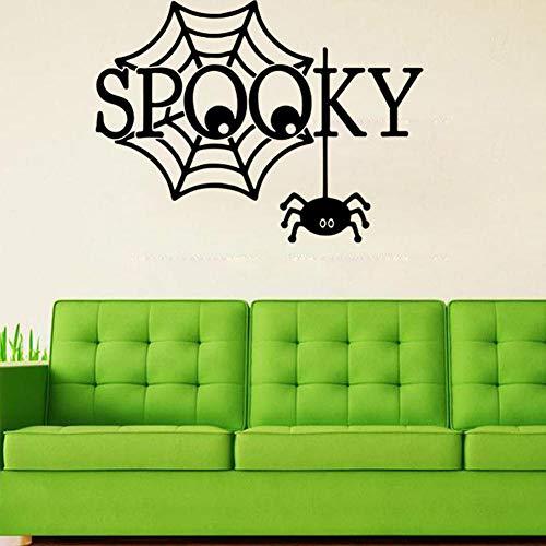 Halloween Spooky Wall Sticker Living Room Bedroom Decoration Sticker]()