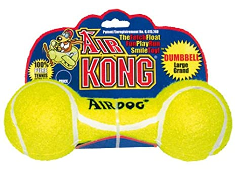 Kong Air Squeaker Pelota Mancuernas de Perro Toy Squeaky: Amazon ...
