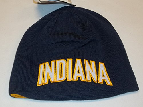 Indiana Pacers Draft - Adidas Indiana Pacers NBA Reversible Draft Knit Beanie One Size Fits All