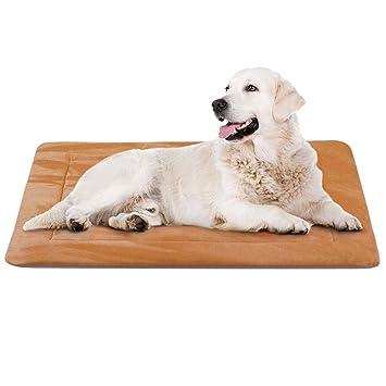 Hero Dog Colchoneta Grande Suave para Perros - 100% Lavable A Máquina, Colchón Antideslizante De Color Intenso (M(90 x 60 CM), Café)