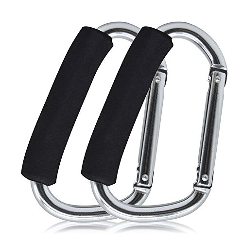 Yoolove X-Large Handy Metal Hooks with Sponge Cover for Baby Stroller Car Shopping Bag Outdoor Carriage Hanger Buckle Accessories (2pcs) by Yoolove