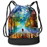 GLSEY Bag Unisex Romantic Night Multifunctional Drawstring Gymbag Casual Outdoor Daypack