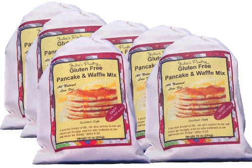 Gluten Free Buttermilk Pancake Mix, 10oz Cloth Bag 6 Pack by Julia's Pantry
