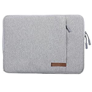 Guaiboshi Drop-proof Laptop Sleeve Case for 13-13.3 Inch Macbook Pro Air Retina Surface Book, Full Protection 12.9 iPad Pro Chromebook Ultrabook Xps Dell HP Sony Stream Tablet Briefcase Bag, Gray