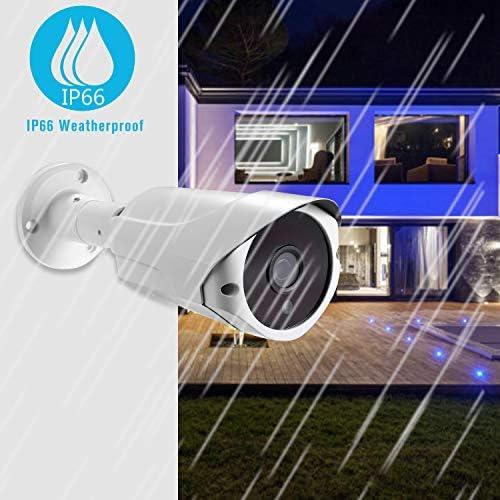 Power Over Ethernet POE IP66 /étanche Vision Nocturne Infrarouge 65ft // 20m Cam/éra de s/écurit/é IP 1080P Alarme de d/étection de Mouvement Cam/éra de Surveillance ext/érieure