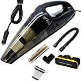 ANKO Car Vacuum, DC 12V 120W High Power Portable Handheld Car Vacuum Cleaner, Strong Suction, Wet & Dry Use, Quick Cleaning, with 15ft Power Cord, 2 Filters & Carry Bag- Black